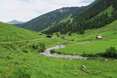 Paesaggio della valle di Zillertal in Tirolo Alpi europee Austria dentro Fotografia Stock