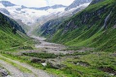 Paesaggio della valle di Zillertal in Tirolo Alpi europee Austria dentro Immagini Stock Libere da Diritti