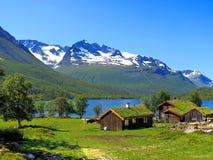 Paesaggio della valle Innerdalen a luglio Fotografie Stock Libere da Diritti
