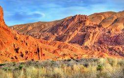 Paesaggio della valle nelle alte montagne di atlante, Marocco di Dades Immagine Stock