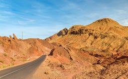 Paesaggio della valle nelle alte montagne di atlante, Marocco di Dades Immagini Stock
