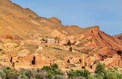 Paesaggio della valle nelle alte montagne di atlante, Marocco di Dades Immagini Stock Libere da Diritti