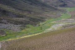 Paesaggio della valle in Salar de Uyuni, Bolivia immagini stock