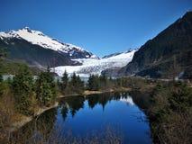 Paesaggio della vista del ghiacciaio dell'Alaska Fotografia Stock