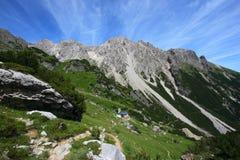 Paesaggio delle alpi Fotografia Stock