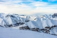 Paesaggio delle alpi in Auron, Francia Immagine Stock