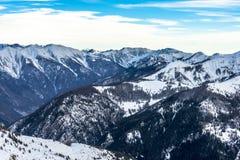 Paesaggio delle alpi in Auron, Francia Fotografia Stock