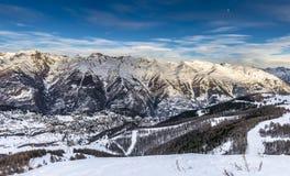Paesaggio delle alpi in Auron, Francia Fotografie Stock Libere da Diritti