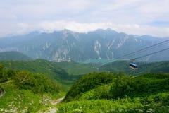 Paesaggio delle alpi del Nord del Giappone Immagine Stock