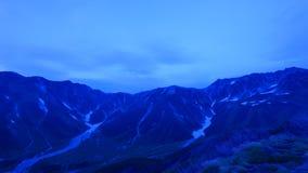 Paesaggio delle alpi del Nord del Giappone Immagini Stock