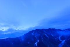 Paesaggio delle alpi del Nord del Giappone Fotografie Stock Libere da Diritti