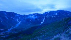 Paesaggio delle alpi del Nord del Giappone Fotografie Stock
