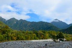 Paesaggio delle alpi del Nord del Giappone Fotografia Stock Libera da Diritti