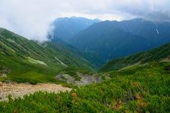 Paesaggio delle alpi del sud del Giappone Fotografie Stock Libere da Diritti