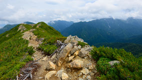 Paesaggio delle alpi del sud del Giappone Immagini Stock Libere da Diritti