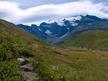 Paesaggio delle alpi del Tarentaise Fotografia Stock