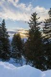 Paesaggio delle alpi della montagna della neve Fotografia Stock Libera da Diritti