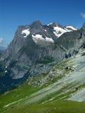 Paesaggio delle alpi di Bernese Oberland in Svizzera Fotografia Stock Libera da Diritti