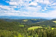 Paesaggio delle alpi di estate Fotografia Stock