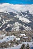 Paesaggio delle alpi di inverno Fotografie Stock
