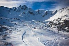 Paesaggio delle alpi di inverno Immagini Stock Libere da Diritti