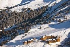 Paesaggio delle alpi di inverno Fotografie Stock Libere da Diritti