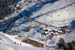 Paesaggio delle alpi di inverno Fotografia Stock