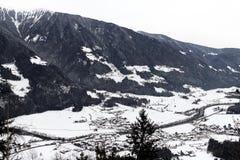 Paesaggio delle alpi di inverno Immagine Stock Libera da Diritti
