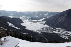 Paesaggio delle alpi di inverno Immagini Stock