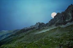 Paesaggio delle alpi francesi Immagini Stock Libere da Diritti