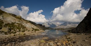 Paesaggio delle alpi in Francia Immagini Stock