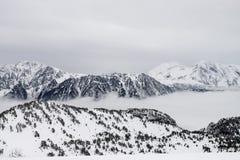 Paesaggio delle alpi delle montagne Fotografie Stock