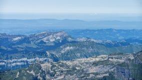 Paesaggio delle alpi delle montagne Fotografia Stock Libera da Diritti