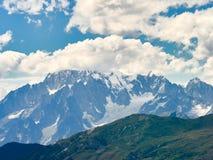 Paesaggio delle alpi visto dalla valle d'Aosta italiana Fotografia Stock Libera da Diritti