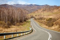 Paesaggio delle alte montagne del Altai Fotografie Stock Libere da Diritti