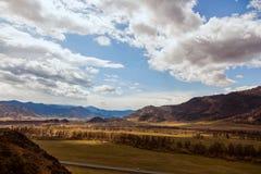 Paesaggio delle alte montagne del Altai Fotografie Stock