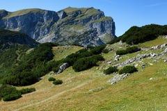 Paesaggio delle alte montagne nelle alpi L'Austria, Tirolo Fotografia Stock