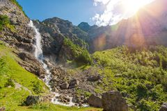 Paesaggio delle cascate di Adelboden Immagine Stock Libera da Diritti