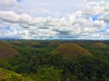 Paesaggio delle colline del cioccolato Fotografie Stock Libere da Diritti
