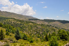 Paesaggio delle colline in generale Belgrano, Cordova della villa fotografia stock libera da diritti