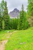 Paesaggio delle dolomia di Sesto, Italia della montagna Fotografia Stock