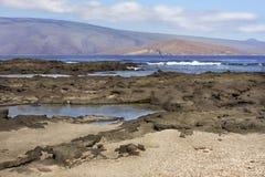 Paesaggio delle isole di Galapagos Fotografie Stock Libere da Diritti