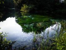 Paesaggio delle molle del lago ohrid, Macedonia Fotografia Stock