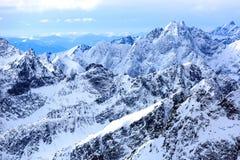 Paesaggio delle montagne in alto Tatras Fotografia Stock Libera da Diritti