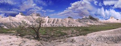 Paesaggio delle montagne bianche Ustyurt Immagini Stock
