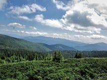 paesaggio delle montagne carpatiche, alba sulla montagna Fotografia Stock