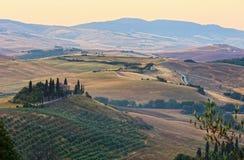 Paesaggio delle montagne carpatiche di inverno Fotografie Stock Libere da Diritti
