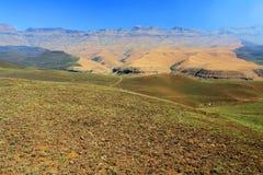 Paesaggio delle montagne del drago di Drakensberg Immagini Stock Libere da Diritti