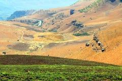 Paesaggio delle montagne del drago di Drakensberg Fotografie Stock