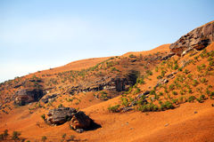 Paesaggio delle montagne del drago di Drakensberg Immagini Stock